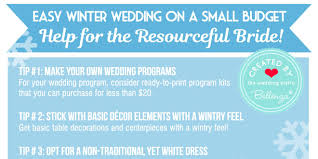 Easy Winter Wedding Tips On A Small Budget