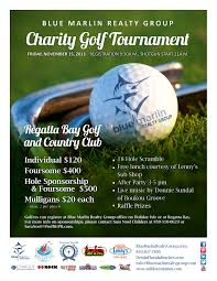 Blue Marlin Realty Charity Golf Tournament November 15, 2013