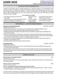 Qc Resume Samples Laboratory Quality Control Resume Sample Template