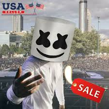details about diy led marshmello dj masks helmet cosplay marshmallow party bar props usa