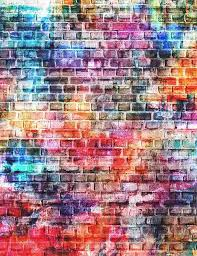 graffiti wallpaper painted brick walls