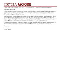 Cover Letter Server Bartender Cover Letter