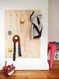 make a diy coat rack using pegboard
