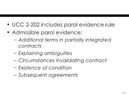 40 Complete Parol Evidence Chart
