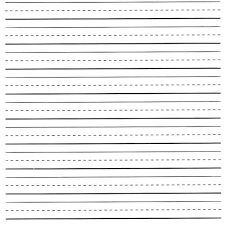 Free Printable Lined Paper For Kids Writing Chart And Template Corner