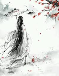 Image result for ancient Japanese painting of black kimonos