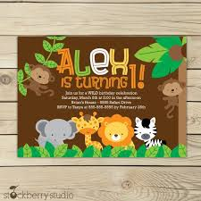 Free Printable Safari Birthday Invitations Safari Jungle Birthday Invitation Printable Jungle Animals
