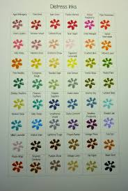 Simply One Of A Kind Distress Inks Colour Chart Continued