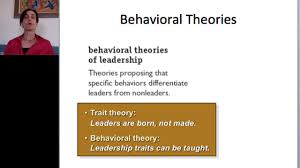 leadership theory trait and behavioral leadership theories youtube
