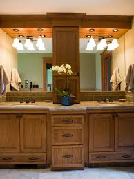 Elegant Bathroom Double Vanity Design Hickory Tree Rustic Home