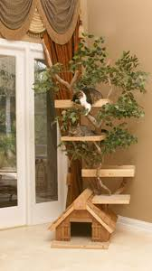 cool cat tree houses with real trees by pet tree house with nice