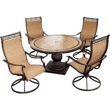 hanover patio furniture. Fascinating Hanover Outdoor Furniture Monaco 5 Piece Swivel Rocker Dining Set MONACO5PCSW Patio L