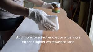 Whitewashing Stained Wood How To Apply General Finishes Whitewash Wood Stain Youtube
