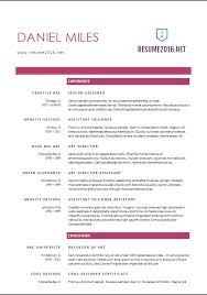 2017 Resume Unique Resume Format 60 60 FREE Word Templates