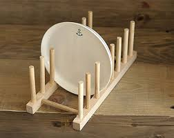 Diy Plate Display Stand Magnificent Simple Wood Plate Rack DIY Holder Kitchen Dinner Plates Diy Plate