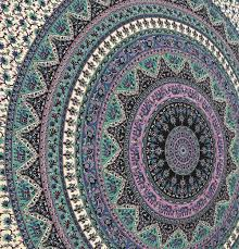 large indian mandala tapestry hippie hippy wall hanging throw bedspread dorm tapestry decorative wall hanging