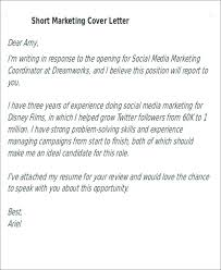 Best Short Cover Letters Short Cover Letter Sample For Job Application Story Example Best
