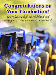 Leave Your Mark On The World High School Graduation Card