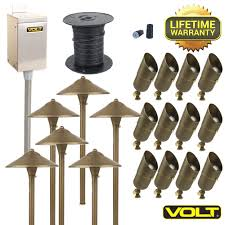 led 12v landscape lighting with light design affordable led kit collection and 4 high quality cast brass fixtures lifetime warranties bulbs wire connectors