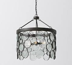Recycled lighting fixtures Recycled Glass Light Pottery Barn Emery Indooroutdoor Recycled Glass Chandelier Pottery Barn
