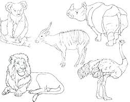 Preschool Animal Coloring Pages Safari Animals Coloring Pages Baby
