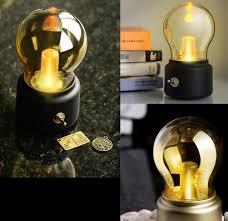 retro usb rechargeable lamp bulb lamp decorative table lamp bedside lamp bulb lights tu hao gold