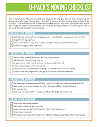 Sample Moving Checklist 24 Great Moving Checklists [Checklist for Moving In Out 1