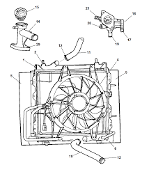 Radiator related parts for 2003 chrysler pt cruiser