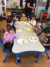preschool lunch table. Image May Contain: 7 People, People Smiling, Sitting, Table And Food Preschool Lunch