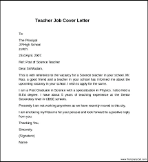 Teaching Covering Letter Letter Resume Directory