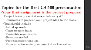 feasibility studies cs lecture ppt video online topics for the first cs 560 presentation