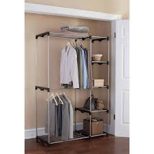 Mainstays Coat Rack Mainstays Wire Shelf Closet Organizer BlackSilver Walmart 50