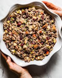 And it's one of the best make prepare the dressing by combining the first 7 ingredients in a medium bowl. Wild Rice Stuffing Recipe For Turkey Gluten Free Foolproof Living