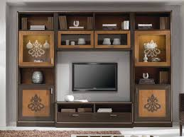 freestanding solid wood tv wall system composite storage wall by arvestyle