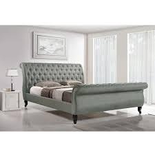 Baxton Studio Arran Grey Linen Platform Bed by Baxton Studio