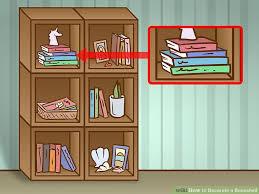 image titled decorate. Image Titled Decorate A Bookshelf Step 10