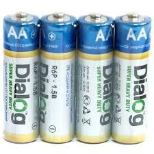 Купить <b>Батарейка AA</b> солевая <b>Dialog</b> R6P-4S в термопленке 4шт ...