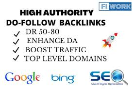 Create strong dr 50 to 80 do follow backlinks for seo by Fiwork360