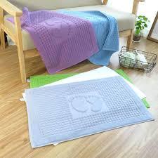 towel bath mat braided diy