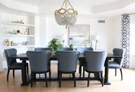 blue dining room chairs. Dining Room With Blue Restoration Hardware Wingback Chairs By Studio McGee T