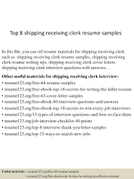 Shipping And Receiving Resume Examples Shipping And Receiving Resume Examples Examples of Resumes 21