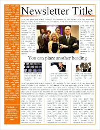 Newsletter Templates Free Word Publisher With Regard To Newspaper