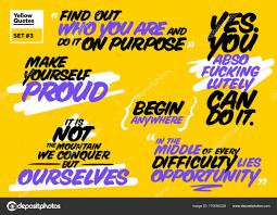 Vector Set Of Short Motivational Quotes Inspiring Cards