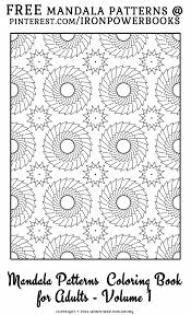 Free Mandala Patterns Coloring Pages For
