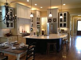 Amazing Rounded Kitchen Island With White Marble Countertop Also White  Cabinetry Sets As Well As Vintage Dining Room Decors As Country Open Floor  Plans ...