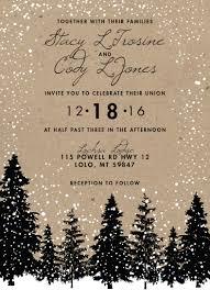Rustic Winter Wedding Invitations Rustic Winter Wedding Invitations Snow Wedding Invitation Woodsy
