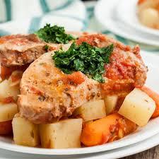 crock pot pork chops and potatoes