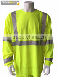 Hi Vis T Shirt Design Mens Long Sleeve Fluorescent Hi Vis 3m Tapes Usa Reflective