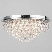 best chandelier for low ceiling elegant flush ceiling light crystal 6 light chrome from litecraft