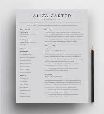 Minimalist Resume Template Free Simple Andtic Art Design